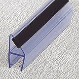 Duschdichtung 200 cm - für 10 mm Glas - Magnet Dichtung Wasserabweiser Ersatzdichtung Duschprofil Duschtürdichtung Lippe. In unserem Shop finden Sie alle gängigen Formen für 6-10mm Glas