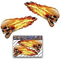 Flammende Schädel Große furchtsame lustige Auto-Aufkleber Motorrad-Vinylabziehbilder ST00016TP_LGE - JAS Aufkleber