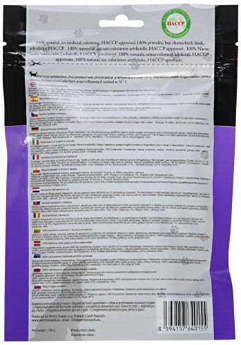 Perrito Hundeleckerli Duck und Pollock Sandwich, Sandwich von Ente und Pollock in dünnen Streifen, 5er Pack (5 x 100 g) - 4