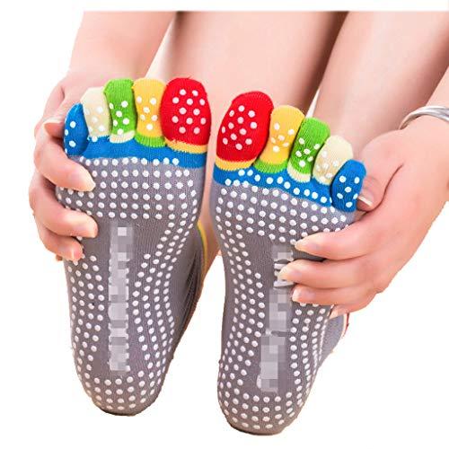Happy Time Yoga-Socken Damen In Innenraum Sportsocken Sommer Dünne Socken Silikon Anti-Slicken Cotton Breathable, Foot Länge 22Cm - 24,5 cm Freie Größe,B