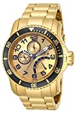 INVICTA PRO DIVER MEN'S 49MM GOLD PLATED STAINLESS STEEL QUARTZ WATCH 15343