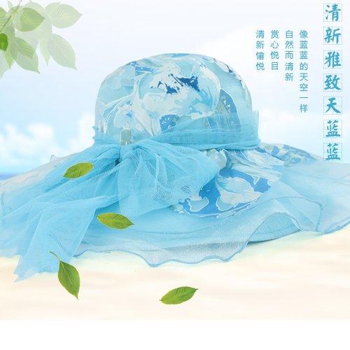 LLZTYM Femme/Été/Chapeau/Soleil/Uv/Chapeau/Chapeau/Plage Chapeau De Soleil/Pliage/Tête/Cadeau/Chapeau blue