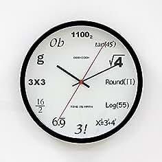 e91e633a752e Amazon.es  Reloj de pared de cristal - Matemáticas - Envío ...