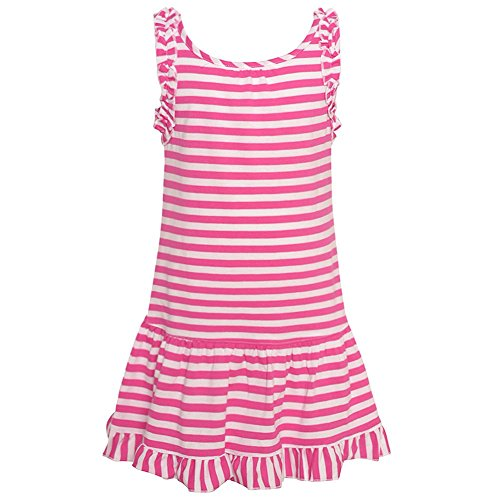 nautica-baby-girls-fuchsia-striped-pattern-ruffled-hem-sailor-dress-12m