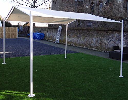 Pabellón | Gris | 400 x 350 cm | SORARA | Poliéster de 250 g/m² (UV 50+)| para jardín, patio, exterior