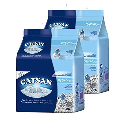 Catsan Hygiene nicht klumpendes Katzenstreu, 2 Packungen (2 x 20l)