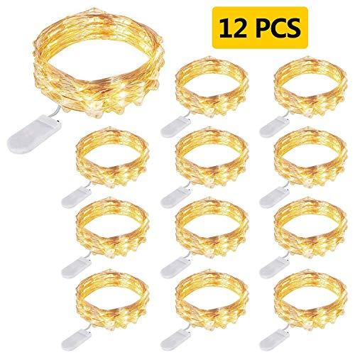 12 Piezas Cadena de Luces con Pilas