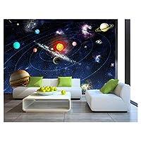 Sun Space Stars Planets Solar System Wallpaper Mural Photo Children Room Poster DIY Decoration