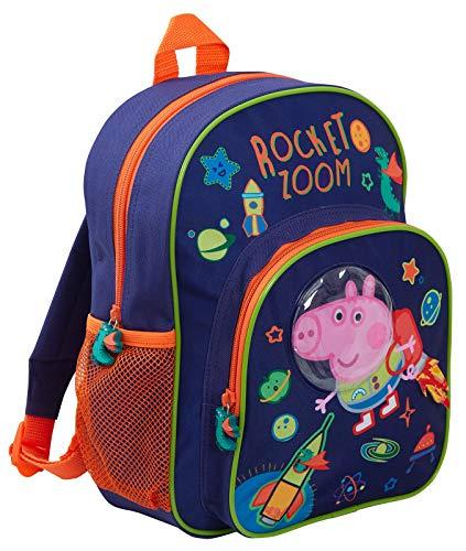 Peppa Pig George Pig - Mochila para niños, diseño de Astronauta Espacial