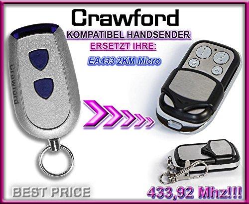 Preisvergleich Produktbild CRAWFORD EA433 2KM (micro) Kompatibel Handsender, 433.92Mhz rolling code keyfob