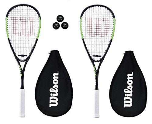 2 x Wilson Blade Team Squashschläger + 3 Squash Bälle