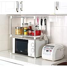 Ndier Cocina Estante de Almacenamiento de Acero Inoxidable Horno de microondas  Estante Accesorio de 12
