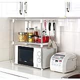 Ndier Cocina Estante de Almacenamiento de Acero Inoxidable Horno de microondas Estante Accesorio de 12'X 35.4' W x 24,2'H