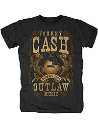 original Johnny Cash Herren T-Shirt MEMPHIS OUTLAW Schwarz Gr. S-XL
