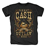 original Johnny Cash Herren T-Shirt MEMPHIS OUTLAW Schwarz Gr. S-XL (L)