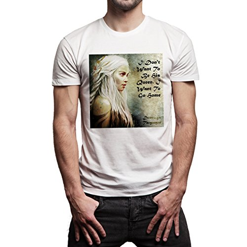 Daenerys Targaryen Game Of Thrones Quote I Don't Want To Be His Queen. I Want To Go Home Herren T-Shirt Weiß