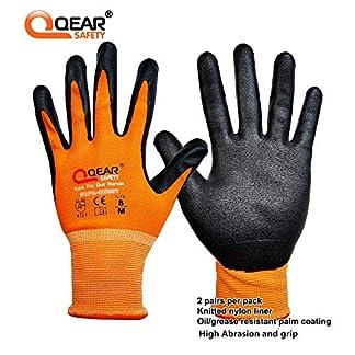 2 pares por paquete de guantes de trabajo de nitrilo