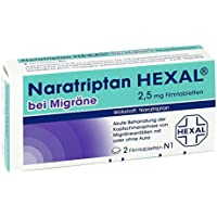 Naratriptan Hexal bei Migräne Tabletten, 2 St. preisvergleich bei billige-tabletten.eu