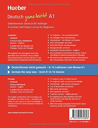 Deutsch ganz leicht A1: Selbstlernkurs Deutsch für Anfänger ― A German Self-Study Course for Beginners / Paket: Textbuch + Arbeitsbuch + 2 Audio-CDs (... ganz leicht Deutsch A1) - 2