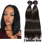 2 Tissage Bresilien En Lot Cheveux Naturel Lisse 100% Virgin Hair 12pouces 50g/pc Pas Cher 7A Straight Human Hair RICHAIR