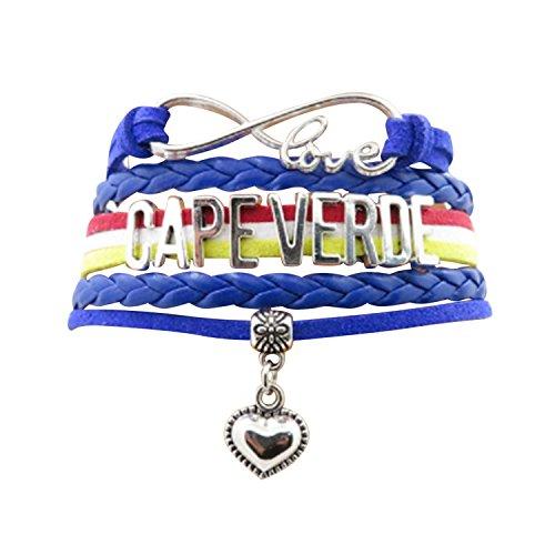 Angepasste Unisex Leder Leder Metall Flagge Armband Armband Manschette (Kap ()
