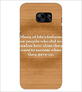 PrintDhaba Quote D-2889 Back Case Cover for SAMSUNG GALAXY S7 (Multi-Coloured)