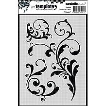 Carabelle Studio Scrolls Plantilla, Plastico, 10.0x14.0x0.5 cm