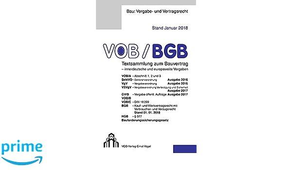 Vobbgb Textsammlung Zum Bauvertrag Innerdeutsche Und Europaweite