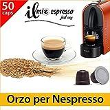 50 capsule compatibili Nespresso - 5 sacchetti da 10 capsule Orzo per macchina caffè Nespresso - Capsule dedicate a macchine Nespresso - Il Mio Espresso