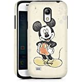 Samsung Galaxy S4 Mini Case Hülle Cover Tough Case black/black - Micky Maus Mickey Mouse Watercolor