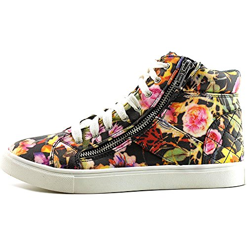 Material Girl Meveret Synthétique Baskets Black Floral