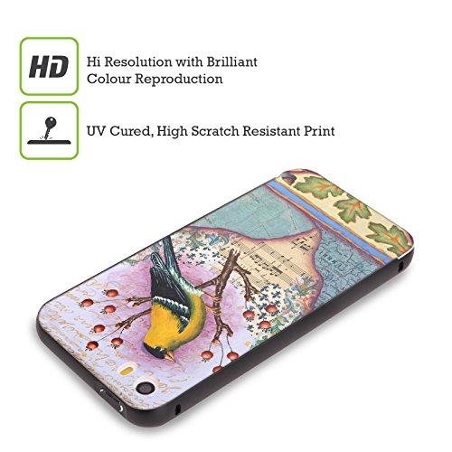 Ufficiale Rachel Paxton Rigogolo Uccelli Nero Cover Contorno con Bumper in Alluminio per Apple iPhone 5 / 5s / SE Cardellino