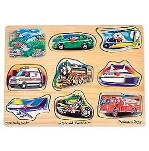 Melissa & Doug 10267 - Rompecabezas de sonidos - vehículos , Modelos/colores Surtidos, 1 Unidad