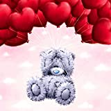 DIY 5D Diamond Painting by Number Kits, Crystal Rhinestone Diamond Embroidery Paintings Pictures Arts Craft for Home Wall Decor,patch Bear Holding Balloon