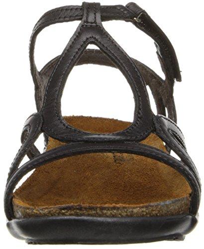 Naot Womens Dorith Leather Sandals Schwarz