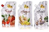 La Faire Tomato Paste, Garlic Paste and Ginger Paste, 1.5 kg (Combo of 3)