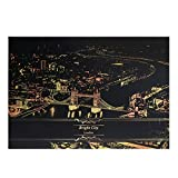 JAGENIE 2 Blätter Scratch Bilder Papier 41x28,7 cm Kreative Set Bildschirm Postkarte DIY Geschenke 4