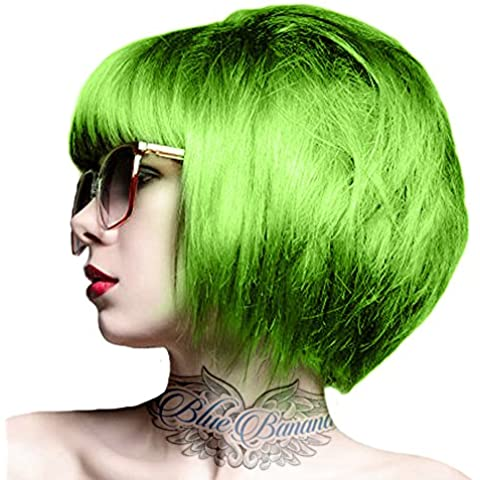 Tintura Per Capelli Semi-Permanente 100ml Crazy Color (Verde Limetta)