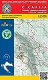 Cicarija nr 19 1:25.000 Wanderkarte Kroatien