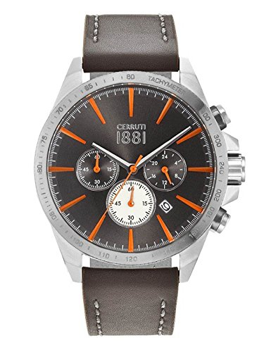 Cerruti Men's Watch Chronograph Leather Band CRA12 6 U61GY