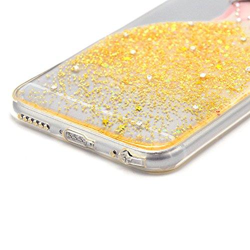 iPhone 6 6S Hülle, Sunroyal iPhone 6 6S Hülle TPU Case Schutzhülle Silikon Gel Crystal Case Durchsichtig,Glänzend Glitzer Kristall TPU Silikon Schutz Handy Hülle Case Tasche Etui Bumper für iPhone 6 6 Pattern 28
