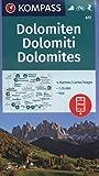KOMPASS Wanderkarte Dolomiten, Dolomites, Dolomiti: 4 Wanderkarten 1:35000 im Set inklusive Karte zur offline Verwendung in der KOMPASS-App. Fahrradfahren. Skitouren. (KOMPASS-Wanderkarten, Band 672)