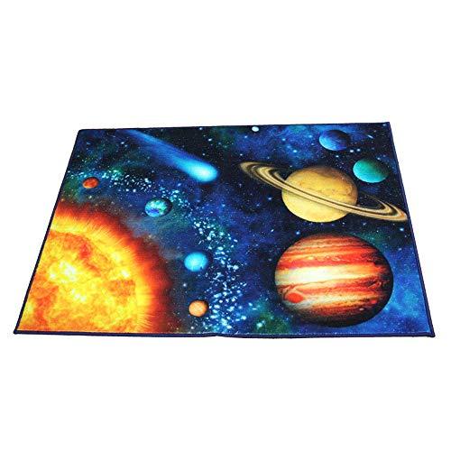 Kinder-Schlafzimmerteppich, Spielteppich, Zeltmatte, SpaßBildung, Weiches Rutschfest, Galaxiemuster, 100 * 130cm Yingpai
