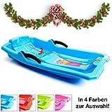 Turbo Slign Schlitten mit Bremsen Kunststoff-rodel für Kinder/Kleinkinder/Erwachsene hochwertige Qualität (blau)