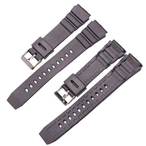 Hongtianyuan Universal-Uhrenarmband, 18/20 / 22 mm, klassisches Ersatz-Armband mit Edelstahl-Schnalle, Uhrenzubehör