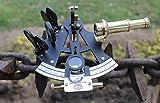 """Sextante 4""""latón macizo con acabado con recubrimiento de polvo negro náuticas instrumento"""
