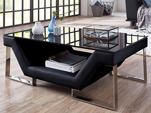 couchtisch wei mit schwarzer glasplatte schnaeppchen center. Black Bedroom Furniture Sets. Home Design Ideas