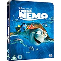 Finding Nemo 3D Includes 2D Version UK Exclusive Lenticular Edition Steelbook Blu-ray region Free
