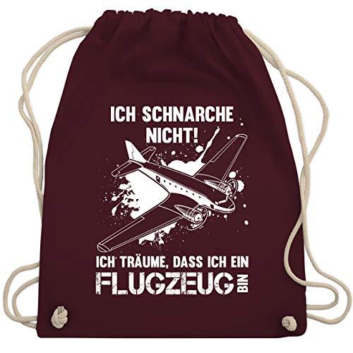 Sprüche - Ich schnarche nicht ich bin ein Flugzeug - Unisize - Bordeauxrot - WM110 - Turnbeutel & Gym Bag