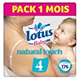 Lotus BabyTouch - Couche Taille 4 (7-14 kg) Pack 1 mois (176 couches )